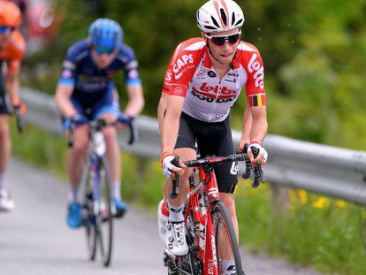 El ciclista belga Bjorg Lambrecht, durante una etapa del Tour de Noruega el pasado junio.