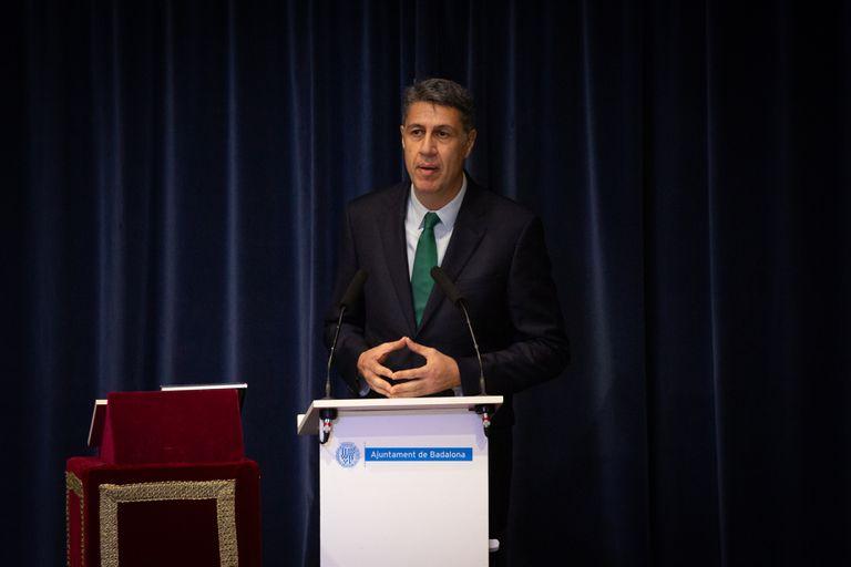 Xavier García Albiol (PP) en el pleno de Badalona de este martes.