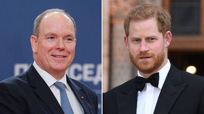 Los príncipes Alberto de Mónaco, a la izquierda, y Enrique de Inglaterra.