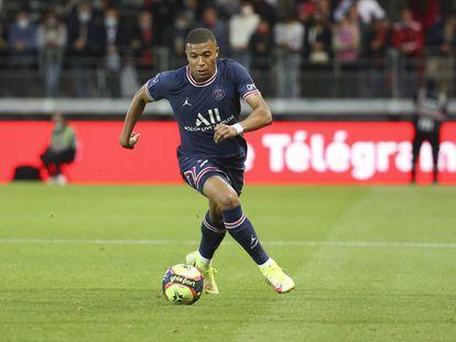 Kylian Mbappé, este pasado fin de semana durante el Brest-PSG.
