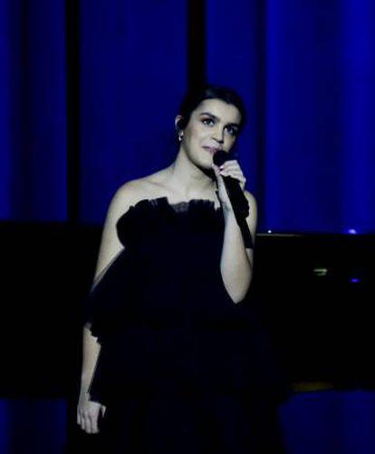 La ganadora de OT 2017, Amaia, durante un momento de su actuación.