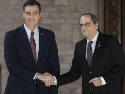 Pedro Sánchez y Quim Torra, en una imagen de archivo.