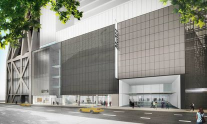 Diseño de la fachada exterior de la ampliación del MoMA.
