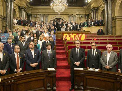 El Parlament, aprovando la declaración de independencia.