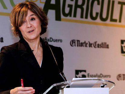 La ministra Isabel García Tejerina en un acto en Valladolid / VÍDEO: ATLAS