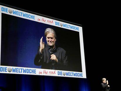 Steve Bannon el pasado marzo en Zurich durante el festival del semanario suizo 'Die Weltwoche'.