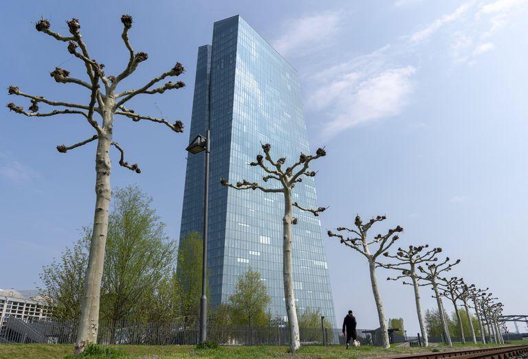 Vista exterior de la sede del Banco Central Europeo en Fráncfort.