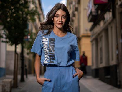 La cantante Ana Guerra, este martes en Madrid.