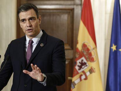 El presidente del Gobierno, Pedro Sánchez, este lunes en Atenas.
