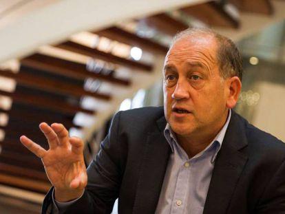 El socialista Fernández Leiceaga, en un momento de la entrevista.