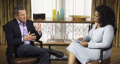 Un momento de la entrevista de Oprah a Armstrong.