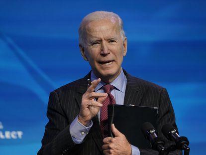 El presidente electo Joe Biden, el pasado viernes, en Wilmington.
