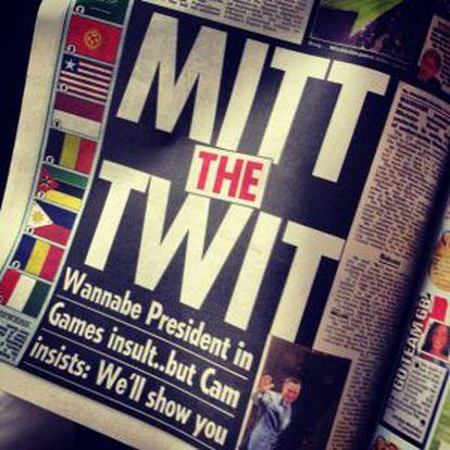 """Página del Sun: """"Mitt el imbécil"""""""