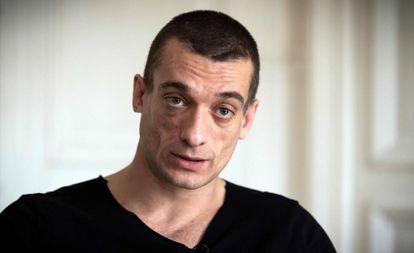 El artista ruso Piotr Pavlenski, el pasado viernes.