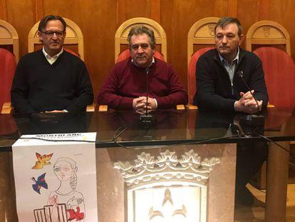 Josep Andreu (centro), este jueves.