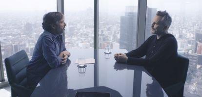 Jordi Évole y Miguel Bosé en la primera entrega de la entrevista al cantante en el programa 'Lo de Évole'.