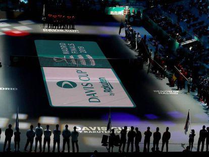 Ceremonia de inauguración de la Copa Davis en la Caja Mágica.