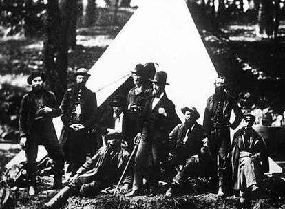 Exploradores y guías del Ejército del Potomac en 1862, durante la Guerra de Secesión.