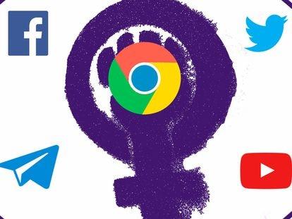 Plataformas más usadas por las organizaciones feministas.