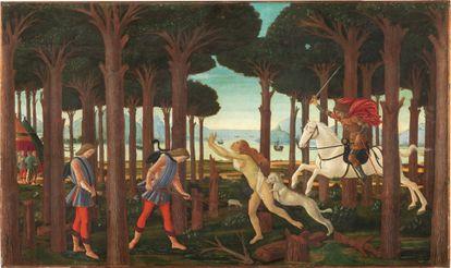 'La historia de Nastagio degli Onesti', de Boticelli, en el Museo del Prado.