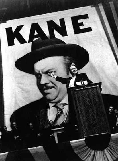 Orson Welles en un fotograma de la película que dirigió y protagonizó, 'Ciudadano Kane'.