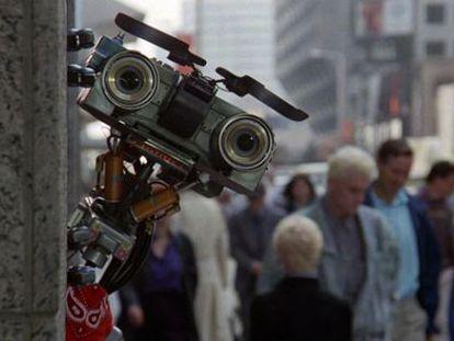 """Fotograma de la película """"cortocircuito""""."""