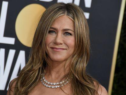 Jennifer Aniston, a su llegada a los Globos de Oro celebrados en Beverly Hills, California, el 5 de enero de 2020.