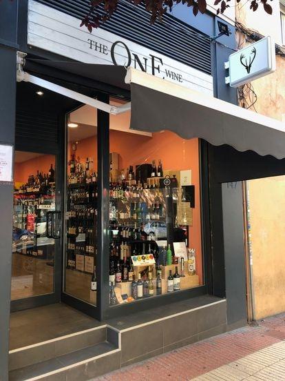 Tienda de vinos The One Wine en la calle de López de Hoyos