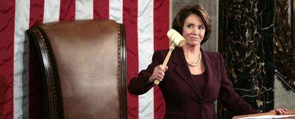 Nancy Pelosi, tras aceptar el cargo.