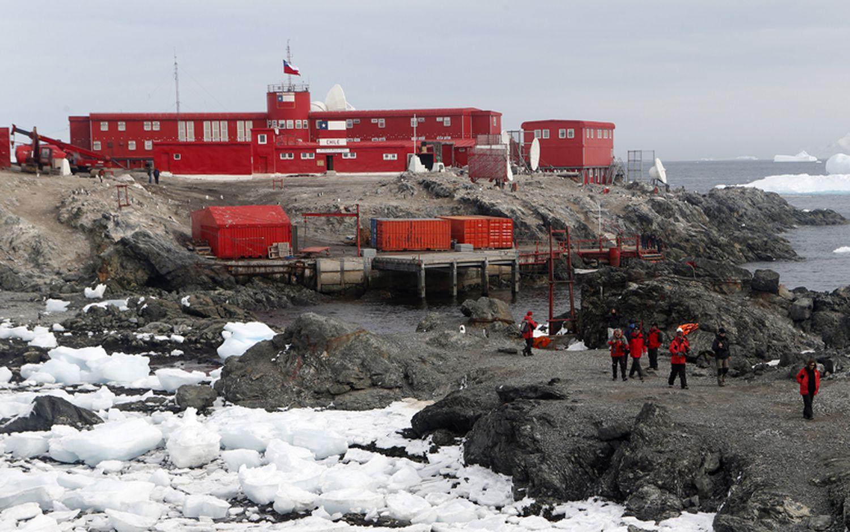 La base chilena General Bernardo O'Higgins, en la Antártida.