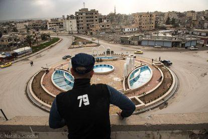 Plaza del paraíso de Raqa donde el ISIS realizaba ejecuciones públicas.