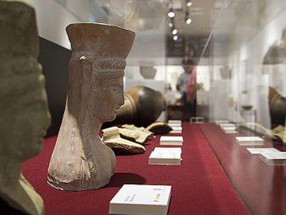 Un aspecto de la exposición 'La fundación de una ciudad milenaria'.
