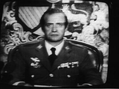 El Rey se dirige a los españoles tras el golpe de Estado.