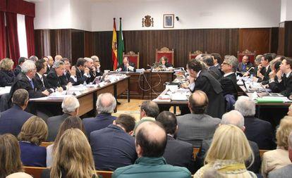 Juicio del 'caso Poniente' en la Audiencia de Almería, este viernes.