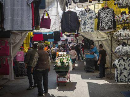 La calle Matamoros, en el centro de Tepito.