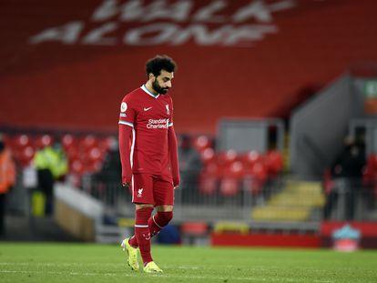 Mo Salah, durante el partido contra el Burnley.