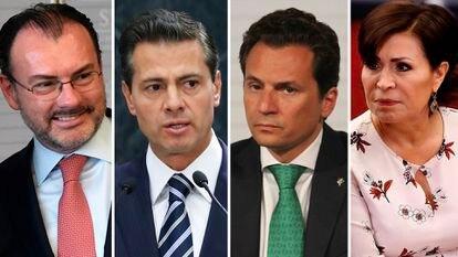 Luis Videgaray, Enrique Pena Nieto, Emilio Lozoya y Rosario Robles.