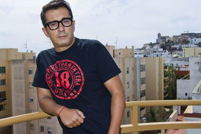 Buenafuente, en la terraza del hotel en Ibiza.
