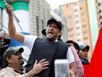El líder 'ultra' Luis Fernando Camacho, el año pasado durante una protesta contra Evo Morales.
