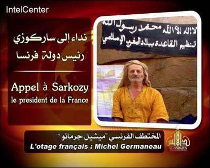 Michel Germaneau, el rehén francés, en una imagen difundida por Al Qaeda.