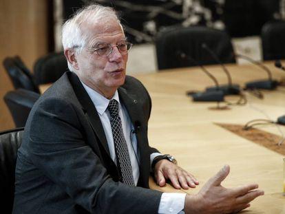Josep Borrell, durante una entrevista en junio de 2018.