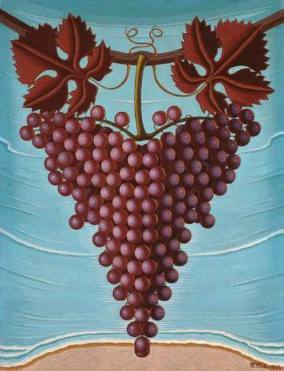 'El racimo de uvas', de la pintora surrealista Maruja Mallo, enamoró a Almodóvar en una exposición que visitó en 2017. Cuando pudo comprarla, ya se la había quedado el propio galerista. Ahora, aparece en 'Dolor y gloria'.