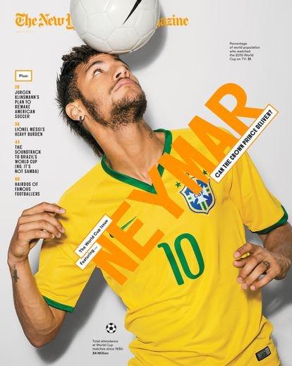 Esta portada de Neymar de la revista 'New York Times Magazine' es una de las que ha diseñado el cubano.