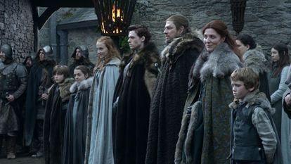 Los Stark al completo, en el primer capítulo de 'Juego de tronos'.