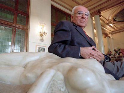 Román Gubern, retratado en el Círculo de Bellas Artes en Madrid.