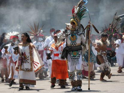 El aniversario 696 de la fundación de Tenochtitlan, en imágenes