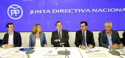 Casado, Cospedal, Rajoy, Martínez Maíllo, Arenas, este jueves.