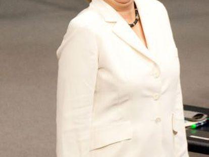 Angela Merkel, en el Parlamento alemán el viernes.