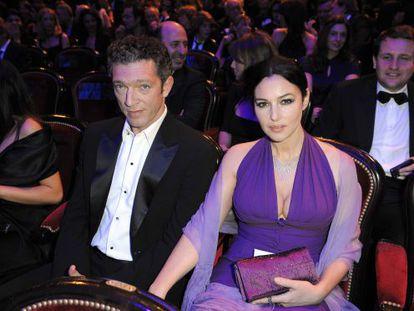 Los actores Vincent Cassel y Monica Bellucci.