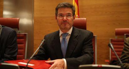 El ministro de Justicia, el pasado 2 de diciembre en el Senado.